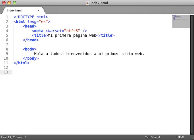 Curso Basico De Html Clase 2 Sublime Text 2 Y Etiquetas Basicas - Espacio-en-blanco-html
