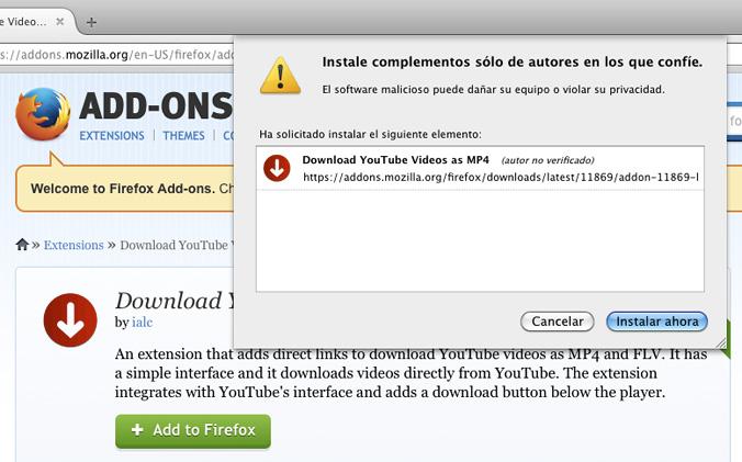 Bajar vídeos de Youtube en formato MP4