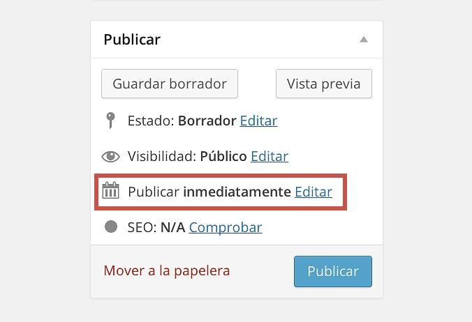 Publicar automáticamente en WordPress