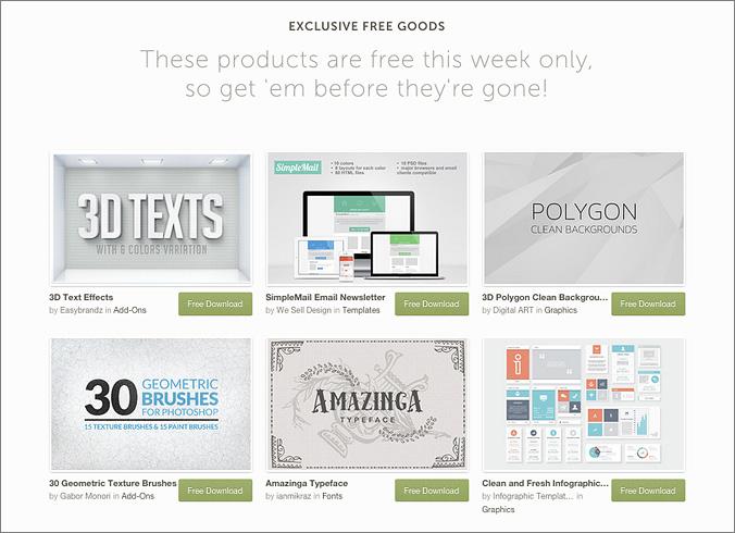 Creative Market gratis free