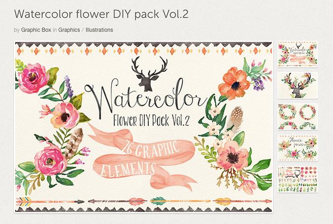 Watercolor acuarela Creative Market