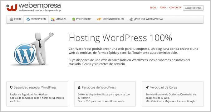 Webempresa, hosting en español