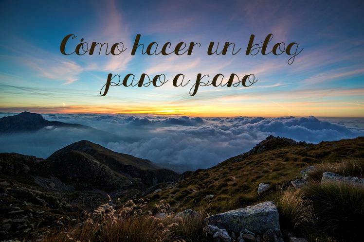 hacer un blog rápido