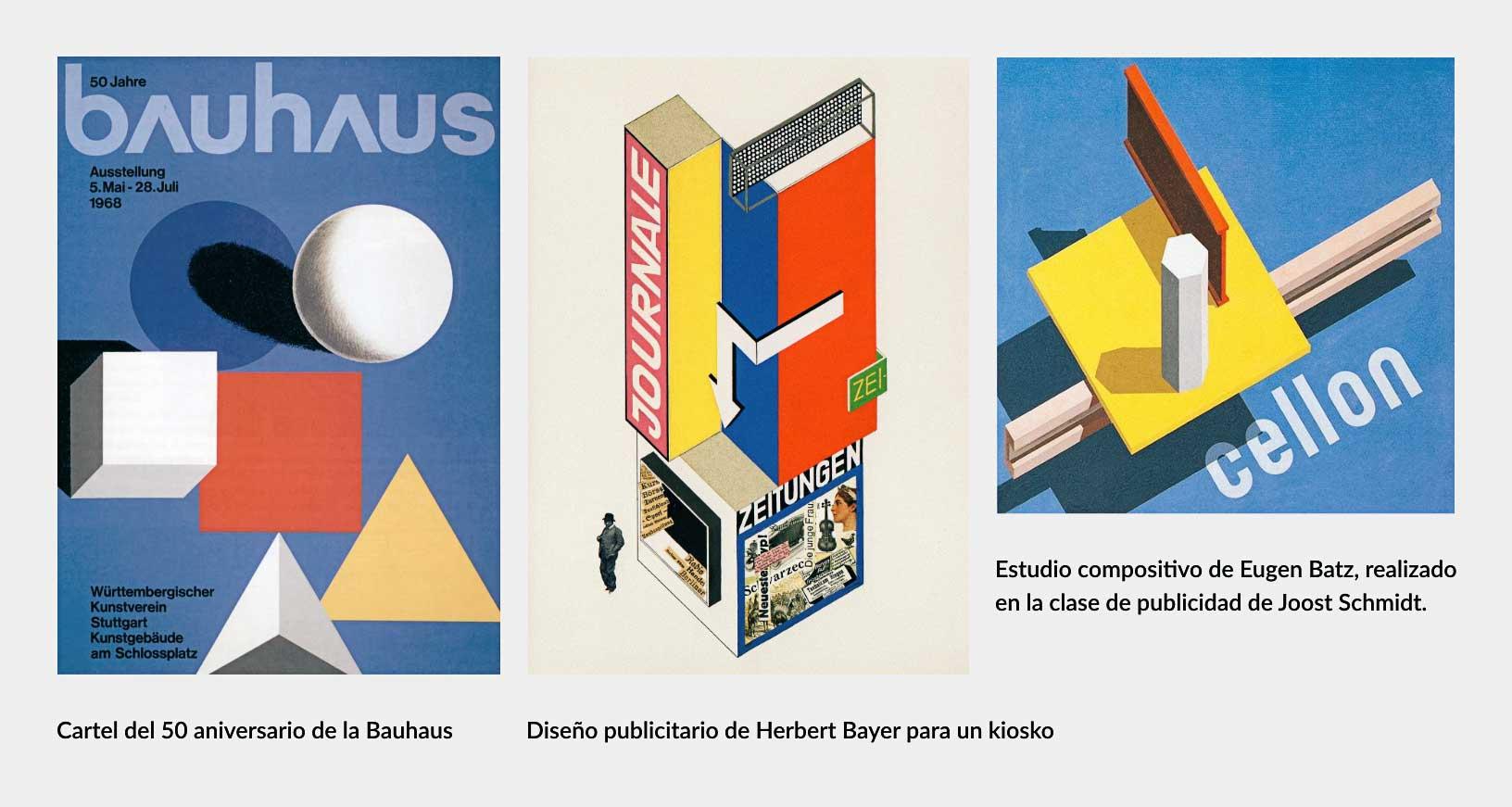 Diseños de la Bauhaus: volumen con planos