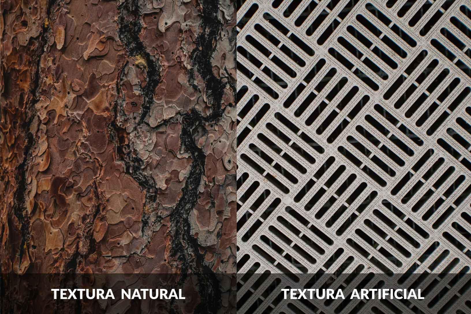Textura natural y artificial